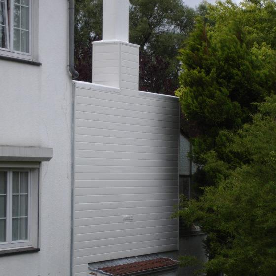 Bardage façade maison à Uccle