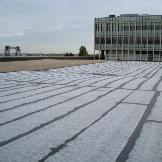 Isolation d'une toiture parking à Bruxelles