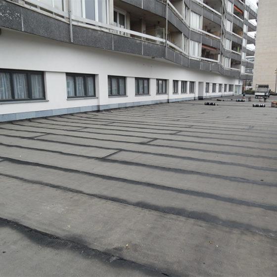Toiture parking Watermael