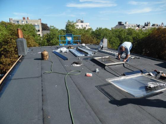 pose de coupoles sur toit plat bruxelles