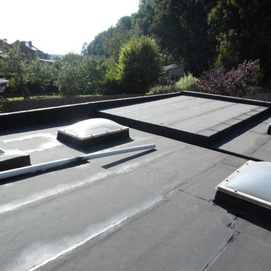 membranes bitumineuses sur toiture plate gerpinnes