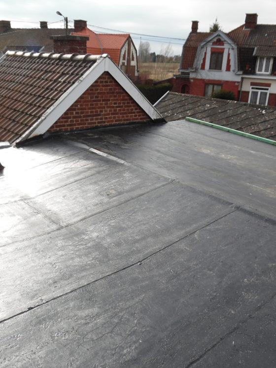 membrane Resitrix sur toiture plate à houdeng goegnies