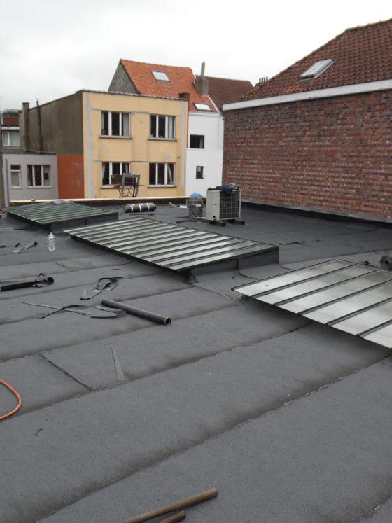 enduit bitumeux sur toit plat à ixelles