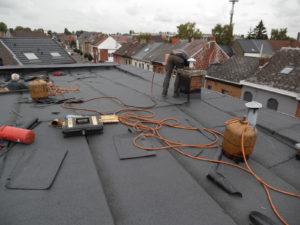 Mise en place toiture plate La Louvière