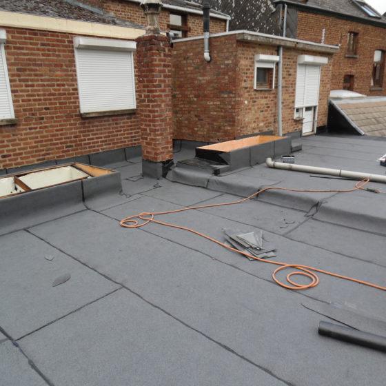 Réalisation toiture plate Ottignies