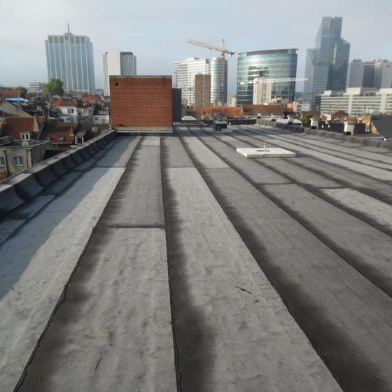 réalisation d'une toiture plate à Bruxelles